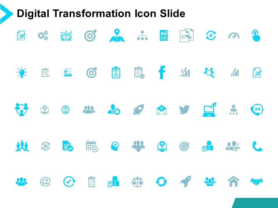 Digital Transformation Icon Slide Growth Strategy Powerpoint Presentation Slides