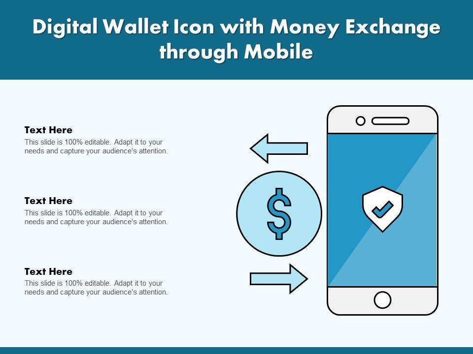 Digital Wallet Icon With Money Exchange Through Mobile