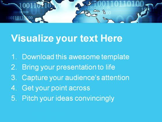 Digital World Map Globe Powerpoint Templates And Powerpoint