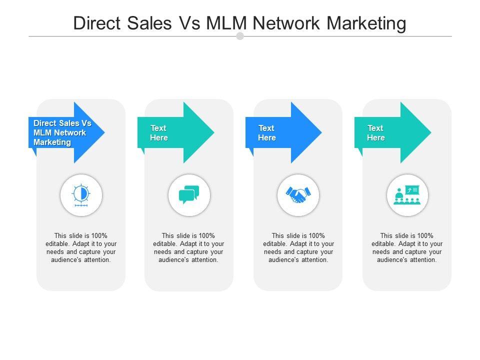 Direct Sales Vs MLM Network Marketing Ppt Powerpoint Presentation Model Master Slide Cpb