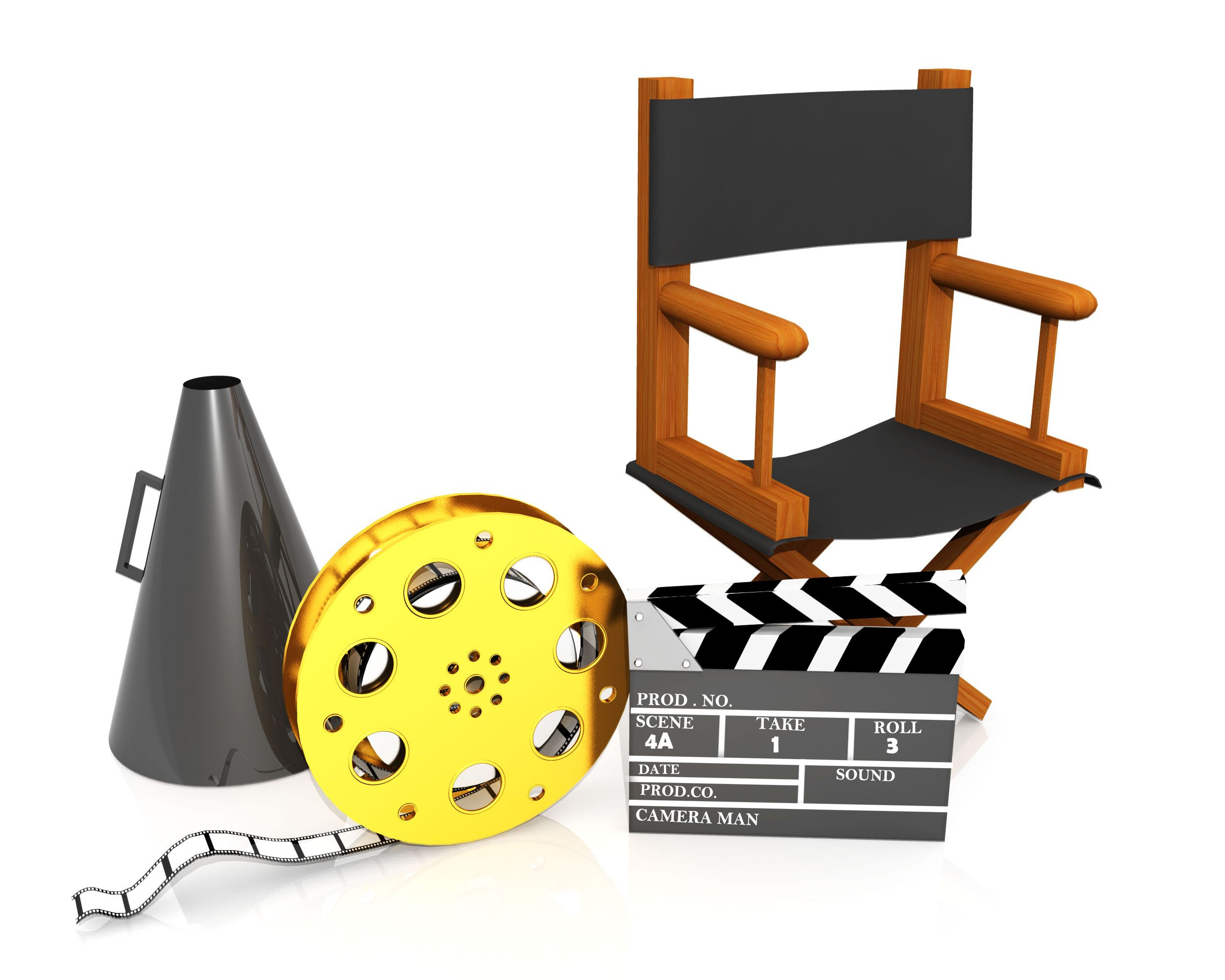 Directors chair and megaphone dating