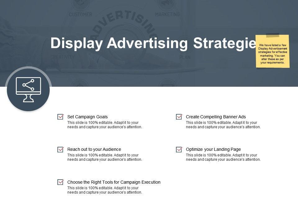 Display Advertising Strategies Optimize Ppt Powerpoint Presentation Ideas Tips