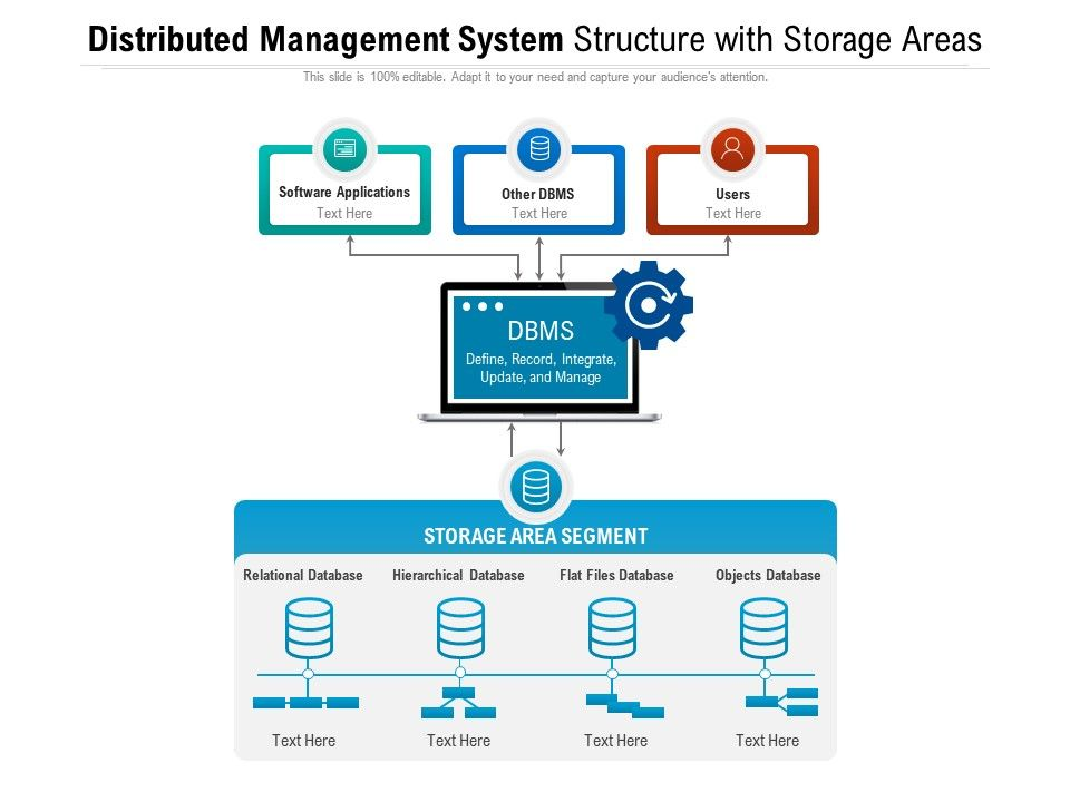 Distributed Management System Structure With Storage Areas