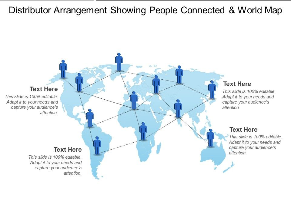 Distributor Arrangement Showing People Connected And World