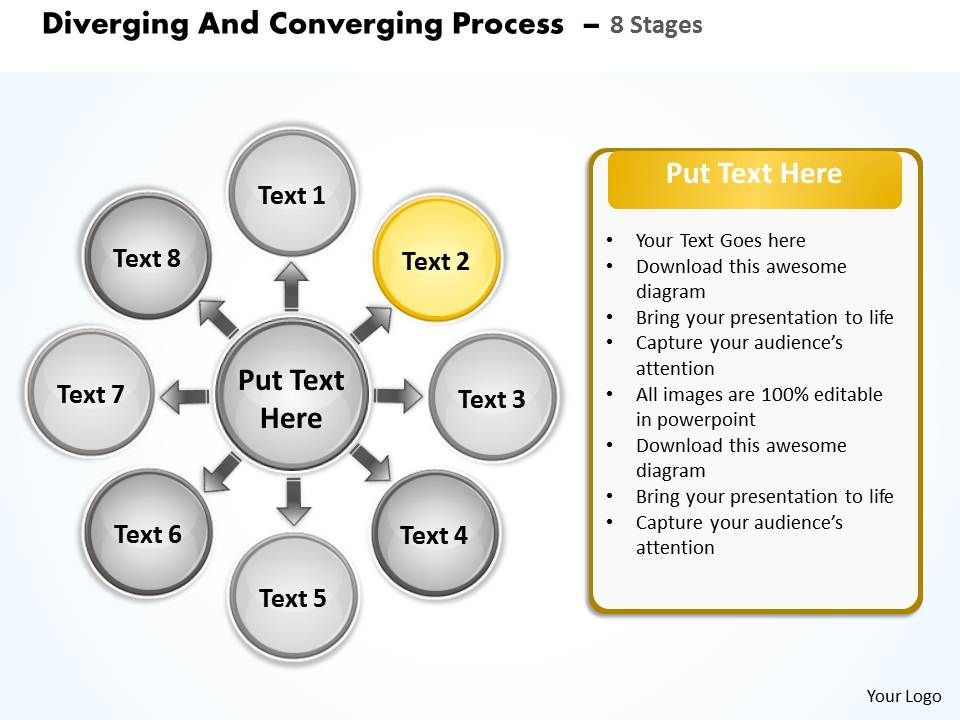Diverging and converging process 8 stages circular flow motion divergingandconvergingprocess8stagescircularflowmotiondiagrampowerpointtemplatesslide04 ccuart Choice Image