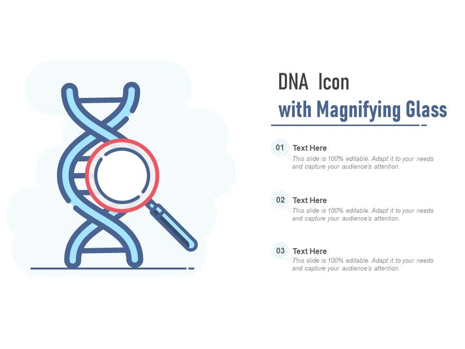 DNA Icon With Magnifying Glass