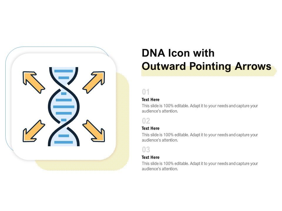 DNA Icon With Outward Pointing Arrows