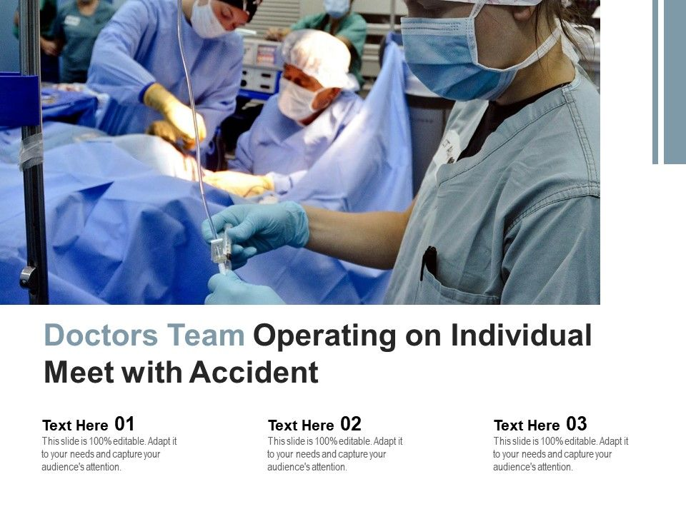 Doctors Team Operating On Individual Meet With Accident
