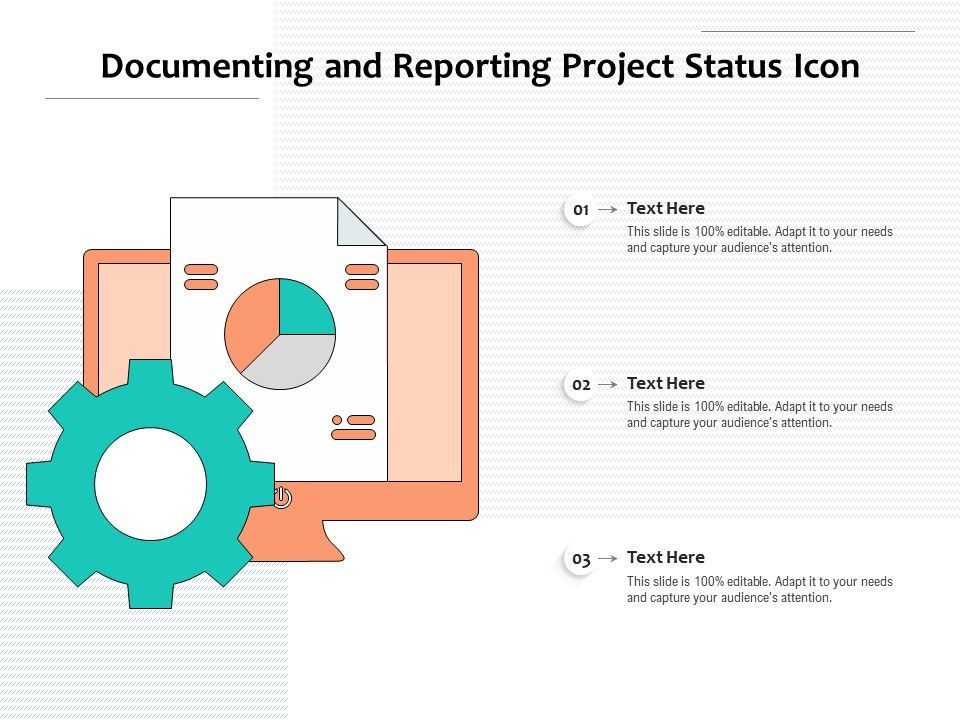 Documenting And Reporting Project Status Icon