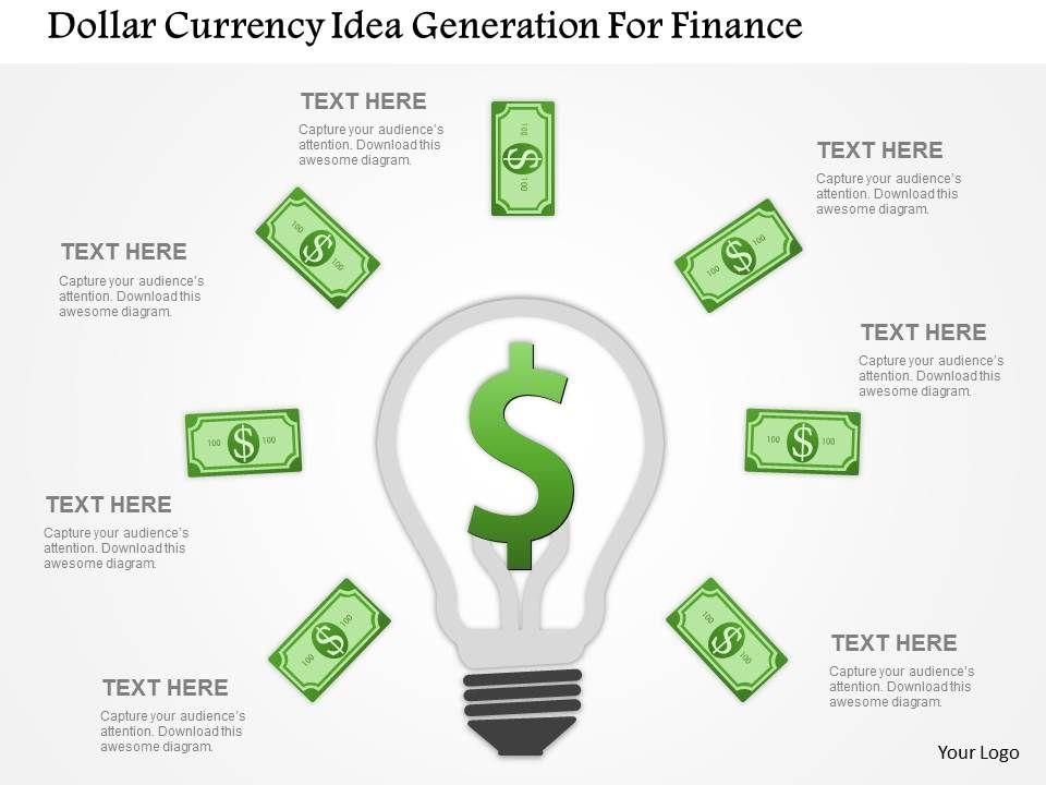 dollar_currency_idea_generation_for_finance_flat_powerpoint_design_Slide01