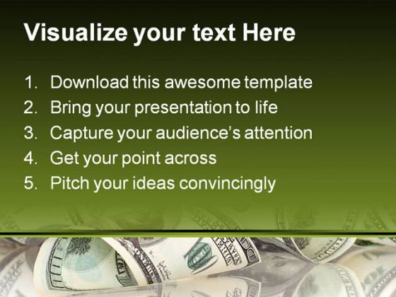 dollar money powerpoint template 0610 | templates powerpoint, Presentation templates
