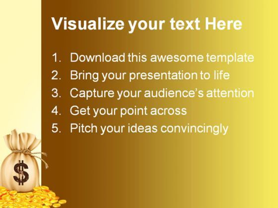 dollar sign money powerpoint template 0910   powerpoint slides, Money Presentation Template, Presentation templates