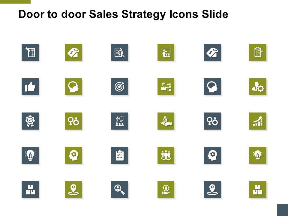 Door To Door Sales Strategy Icons Slide A175 Ppt Powerpoint Presentation Model Deck