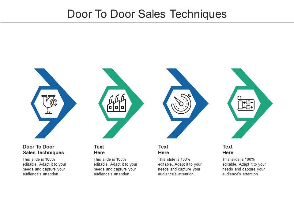 Door To Door Sales Techniques Ppt Powerpoint Presentation Portfolio Example File Cpb