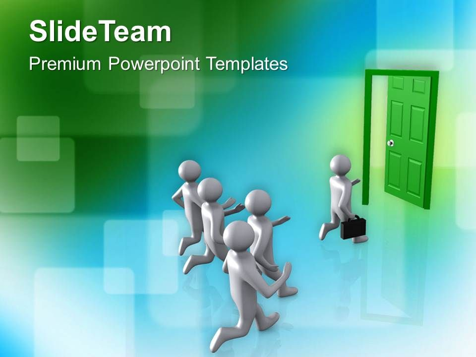 door to new opportunities and success powerpoint templates