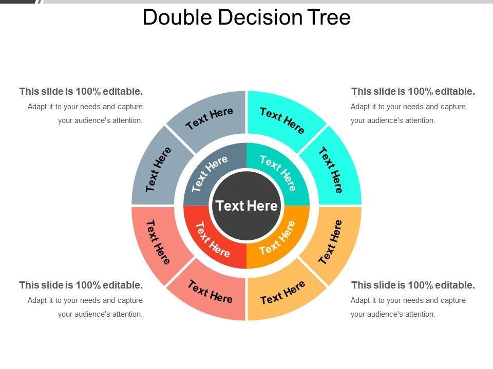 Double Decision Tree Ppt Infographic Template Powerpoint Slide