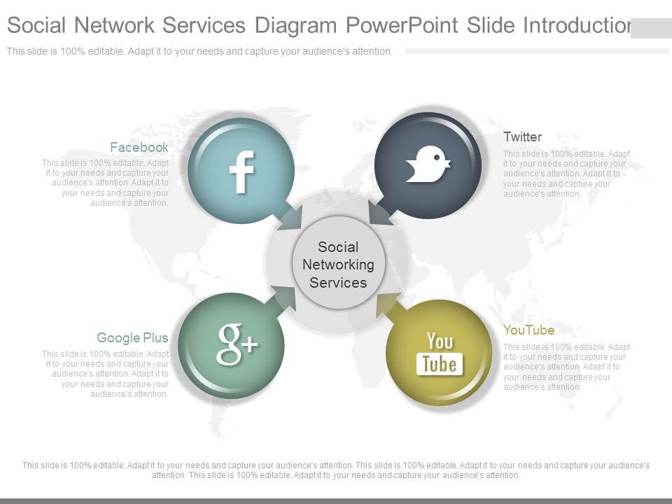Download Social Network Services Diagram Powerpoint Slide