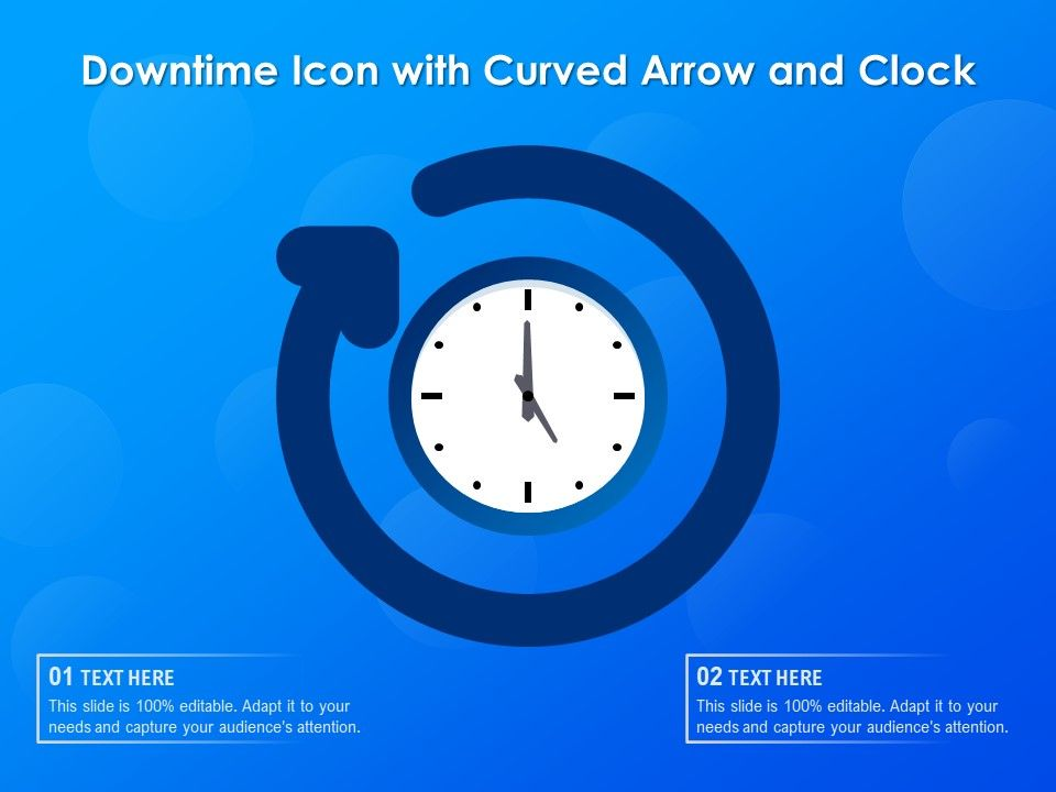 Downtime Icon With Curved Arrow And Clock