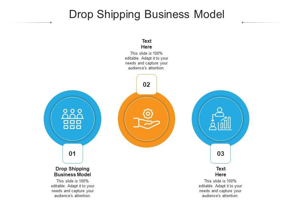 Drop Shipping Business Model Ppt Powerpoint Presentation Portfolio Portrait Cpb