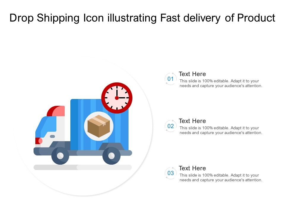 Drop Shipping Icon Illustrating Fast Delivery Of Product