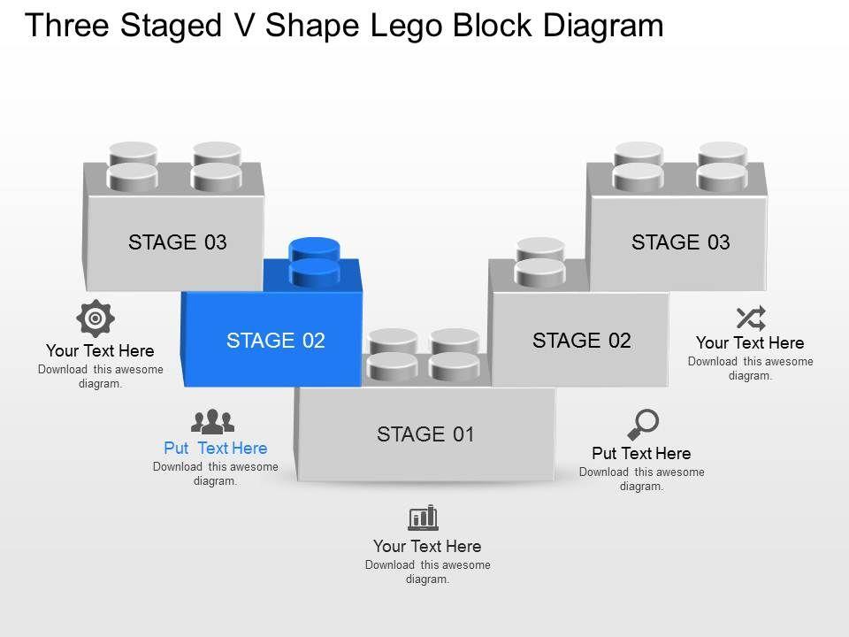 Dt Three Staged V Shape Lego Block Diagram Powerpoint Template Presentation Powerpoint Templates Ppt Slide Templates Presentation Slides Design Idea