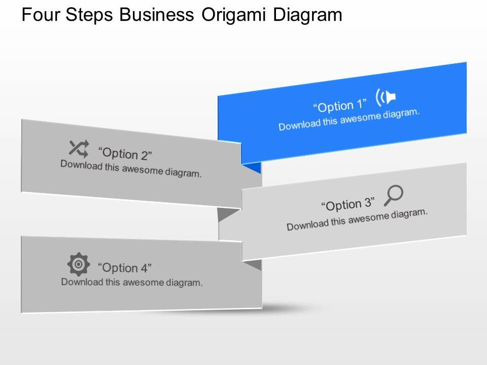 Dy four staged business origami diagram powerpoint template dy four staged business origami diagram powerpoint template presentation powerpoint diagrams ppt sample presentations ppt infographics toneelgroepblik Choice Image