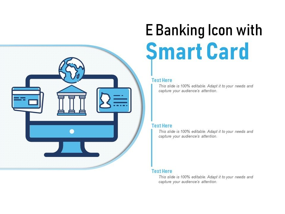 E Banking Icon With Smart Card