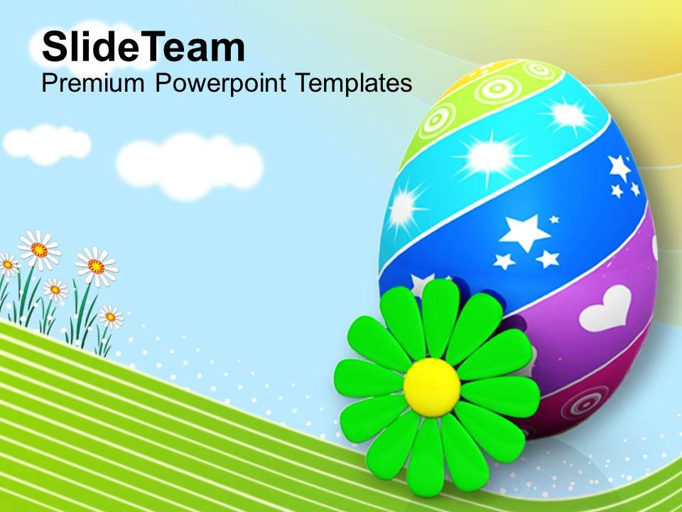 easter_bunnies_painted_eggs_with_flower_spring_season_powerpoint_templates_ppt_backgrounds_for_slides_Slide01