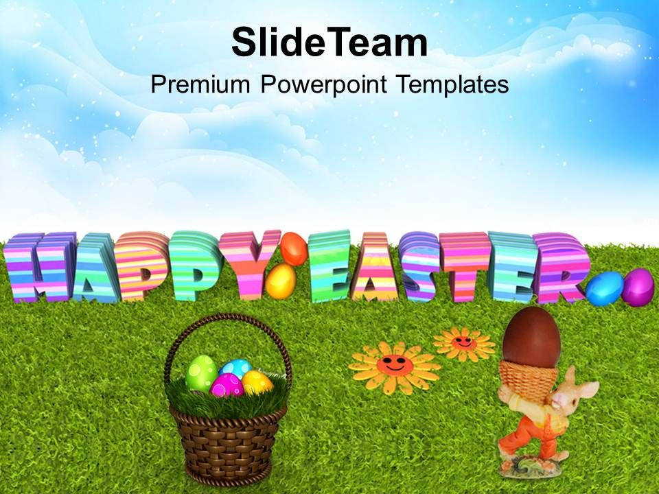 easter_bunny_pics_eggs_with_flower_on_grass_powerpoint_templates_ppt_backgrounds_for_slides_Slide01