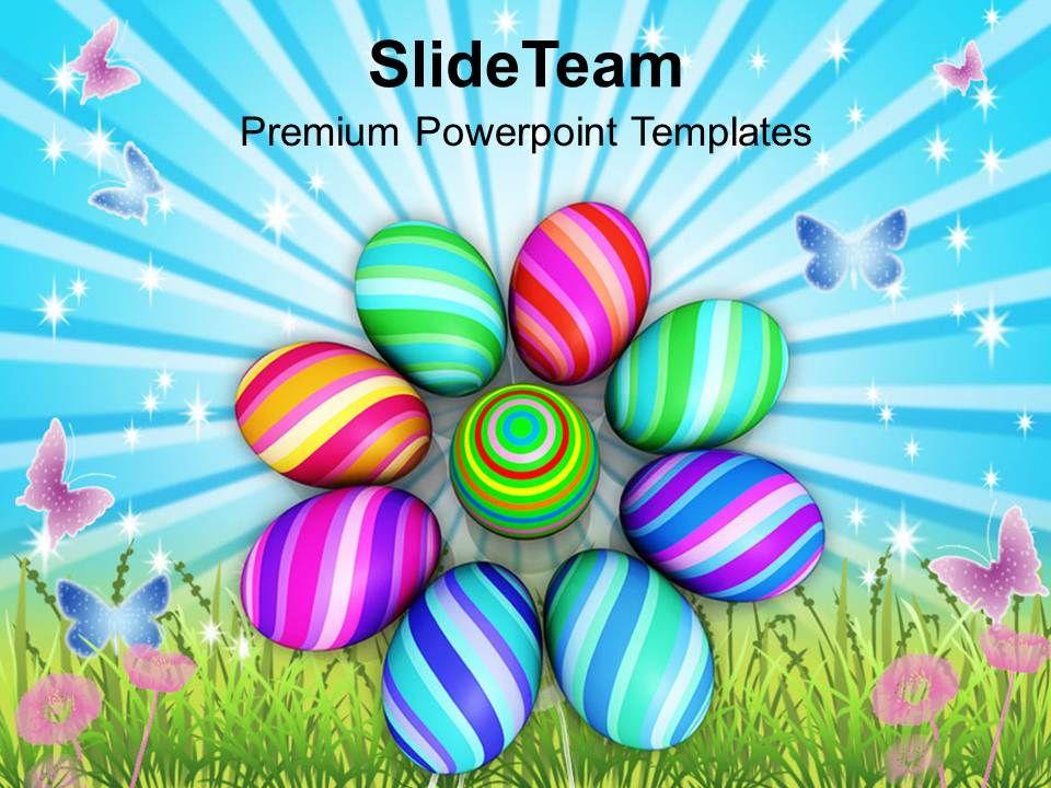 easter_bunny_pics_multicolored_designer_eggs_powerpoint_templates_ppt_backgrounds_for_slides_Slide01