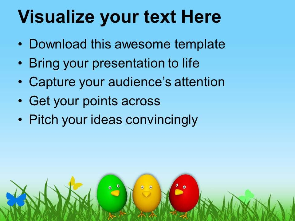 Easter Bunny Pics Smiley Eggs For Wishes Powerpoint Templates Ppt