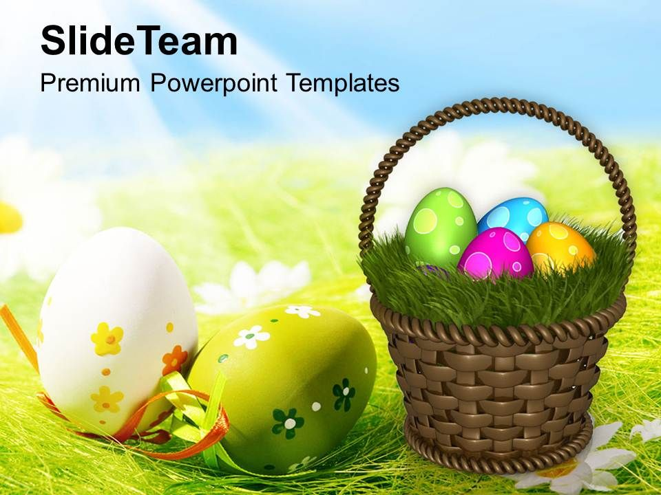 Easter Egg Clipart Colourful Eggs With Garden Theme Powerpoint