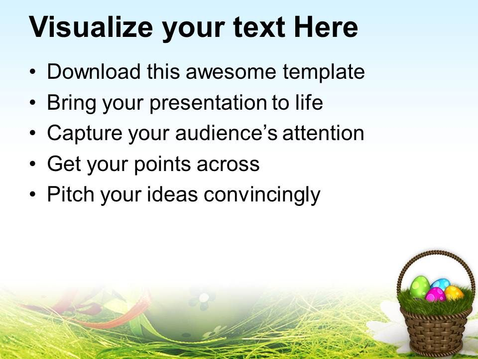 Easter Egg Clipart Colourful Eggs With Garden Theme Powerpoint – Sample Easter Powerpoint Template
