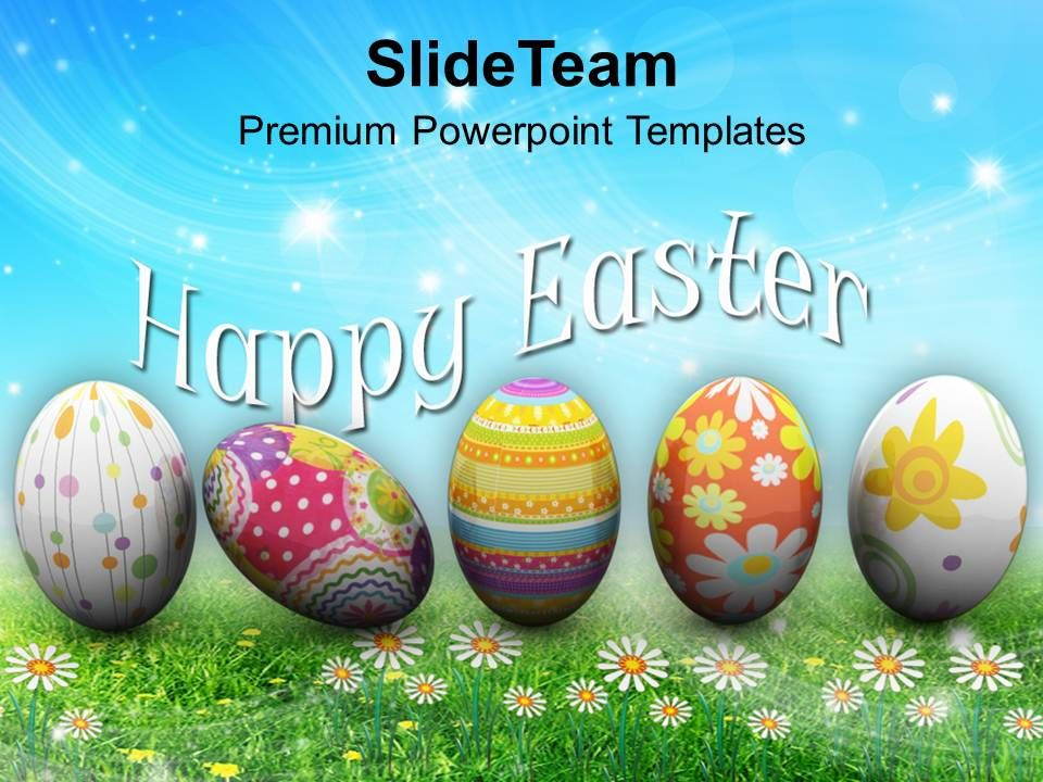 Easter Eggs Bunny Festival Powerpoint Templates Ppt