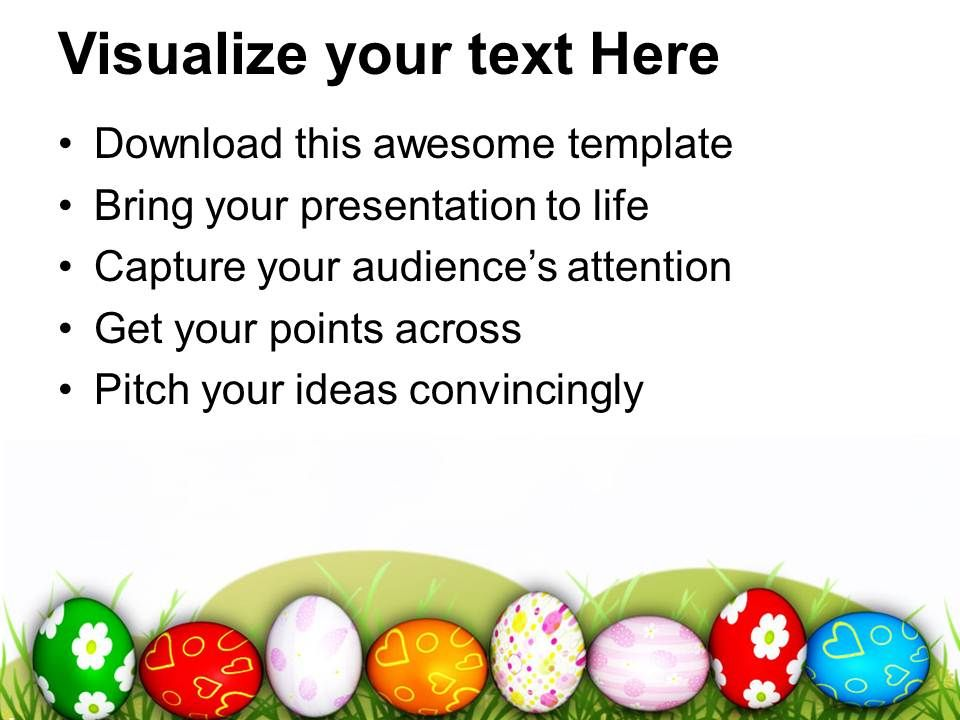 Easter Eggs With Lots Of Suprises Powerpoint Templates Ppt Themes – Sample Easter Powerpoint Template
