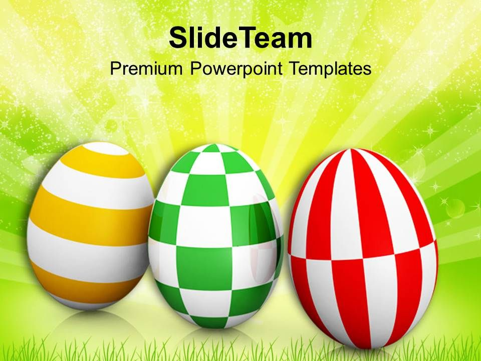 Easter Holiday Different Pattern Eggs With Theme Powerpoint
