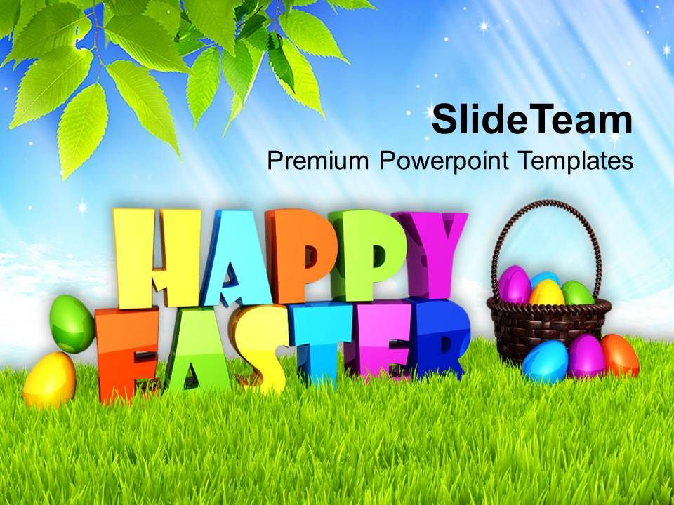 easter_holiday_happy_theme_with_multicolored_eggs_powerpoint_templates_ppt_backgrounds_for_slides_Slide01