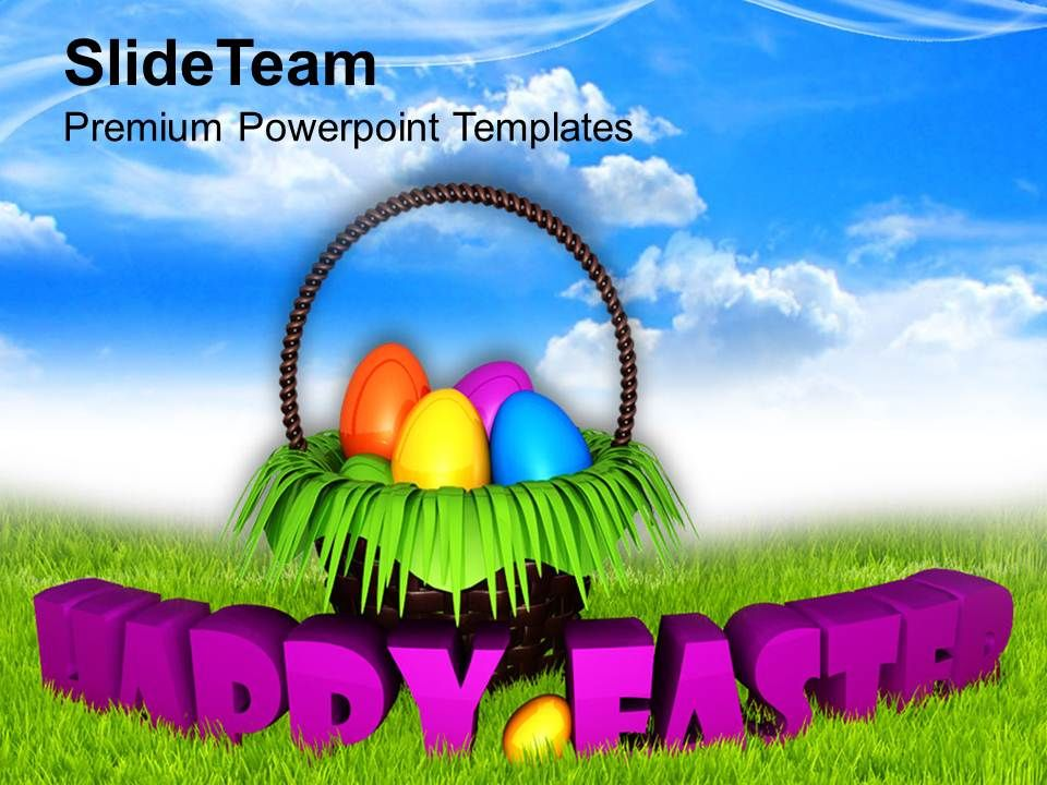 Easter Holiday Happy Wishes With Bright Sky Theme Powerpoint – Sample Easter Powerpoint Template