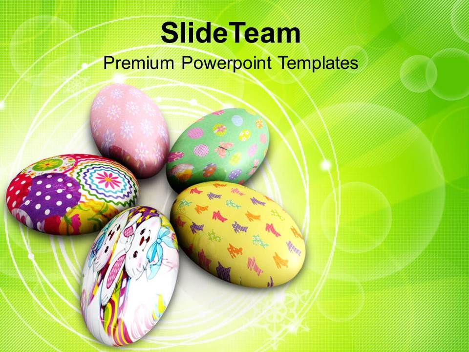Easter Prayer Painted Circular Eggs Holidays Powerpoint Templates