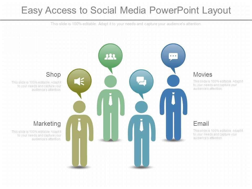 easy access to social media powerpoint layout powerpoint templates