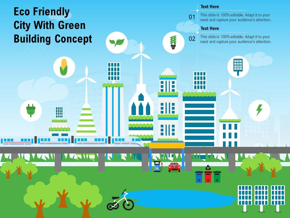 Eco Friendly City With Green Building Concept