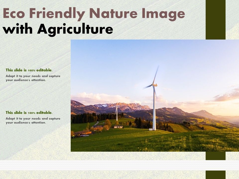 Eco Friendly Nature Image With Agriculture