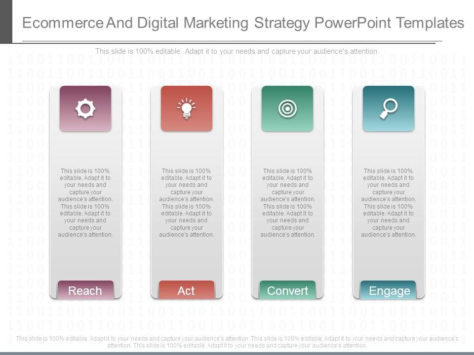 Ecommerce And Digital Marketing Strategy Powerpoint