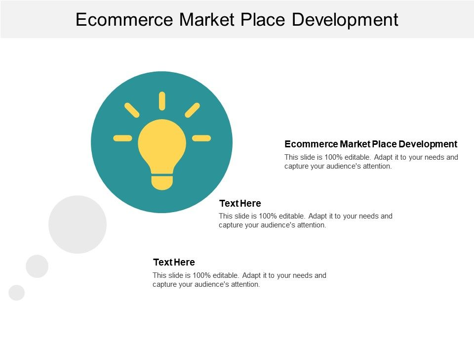 Ecommerce Market Place Development Ppt Powerpoint