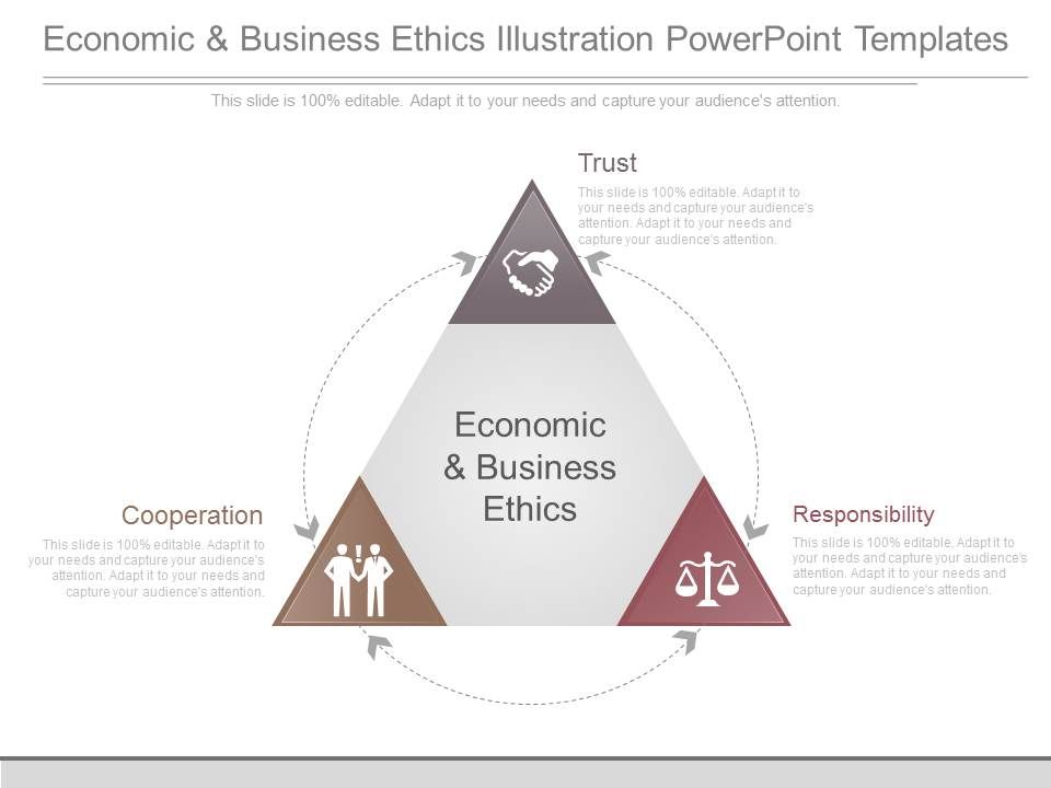 Economic And Business Ethics Illustration Powerpoint Templates