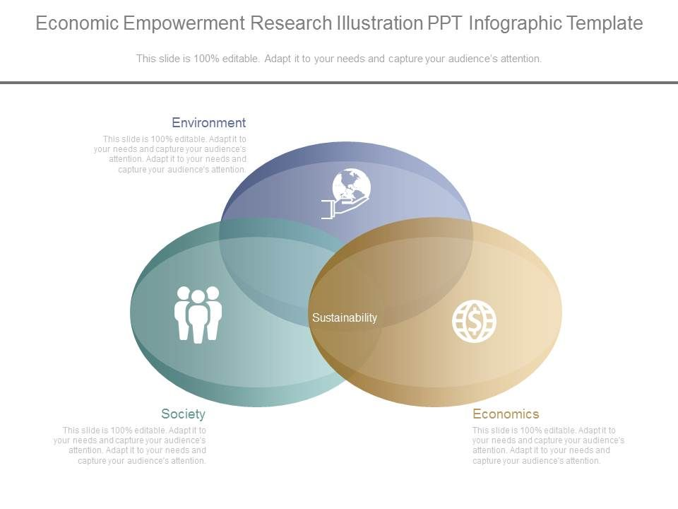 Economic Empowerment Research Illustration Ppt Infographic Template