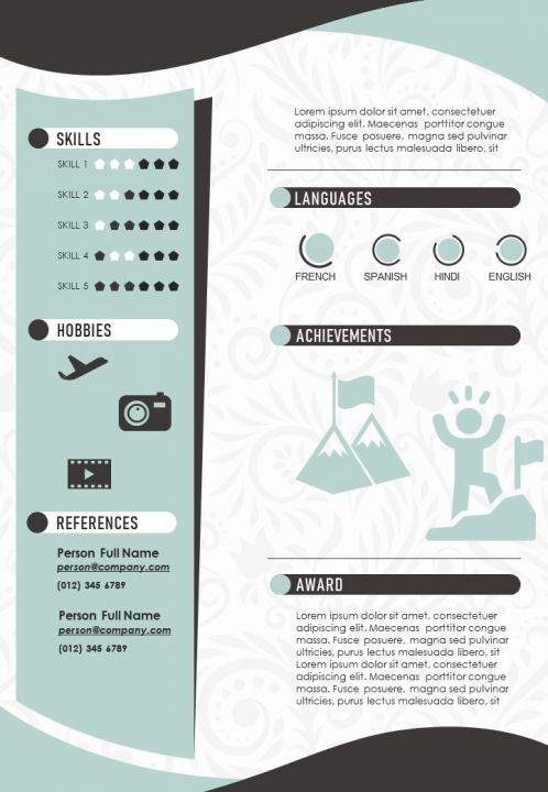 Editable Cv Resume Sample A4 Infographic Template Powerpoint