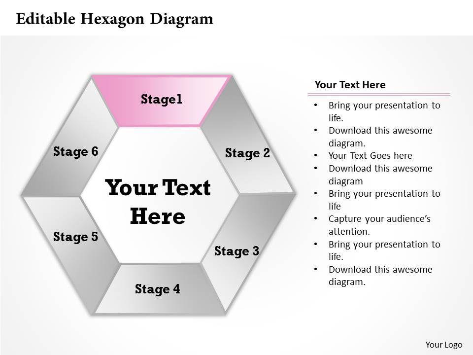 Editable hexagon diagram powerpoint template slide powerpoint editable hexagon diagram powerpoint template slide powerpoint design template sample presentation ppt presentation background images toneelgroepblik Image collections