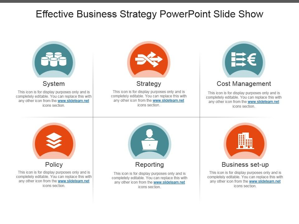 effective business strategy powerpoint slide show powerpoint