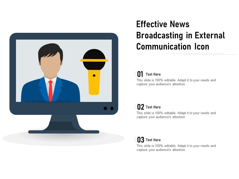 Effective News Broadcasting In External Communication Icon